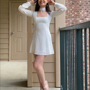 NWT Stone Cold Fox Paisley Silk Choker Dress XS/0